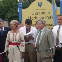 Groundbreaking at Ukrainian Heritage Park