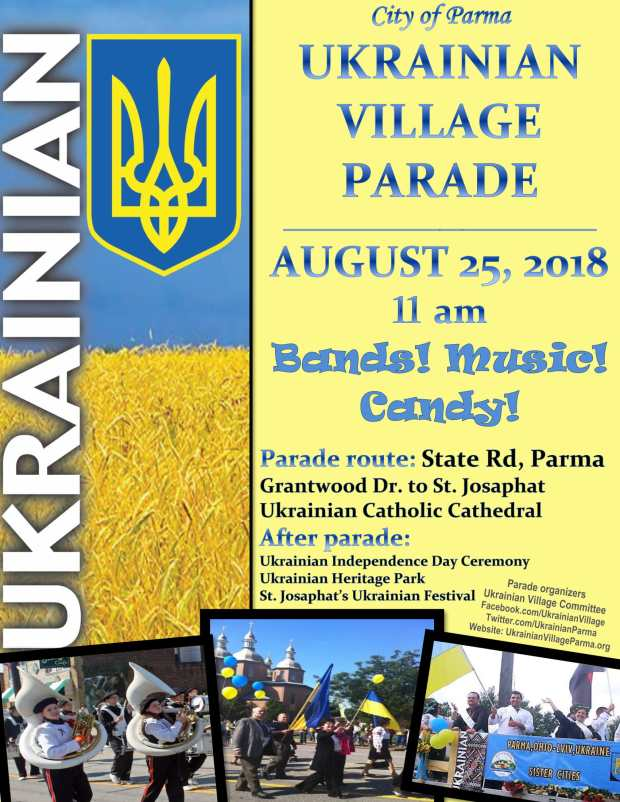 2018 ukrainian village parade flyer